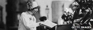 US suffragette Hazel Cumming, circa 1915