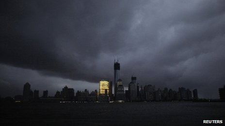 New York during the blackout from storm Sandy 30 October 2012