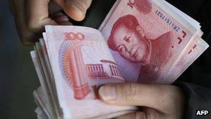 File photo: Chinese yuan