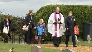 Memorial service at Weybourne cemetery