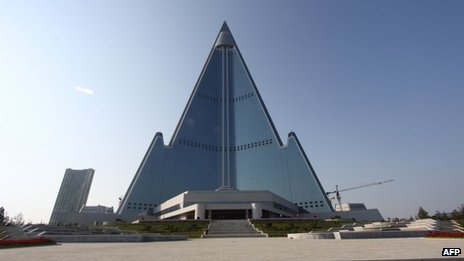 Pyongyang's 105-storey Ryugyong Hotel (file photo)