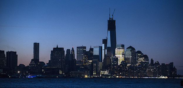Manhattan skyline after the passing of Hurricane Sandy