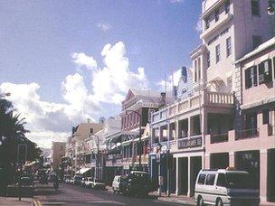 Street view in Hamilton, Bermuda