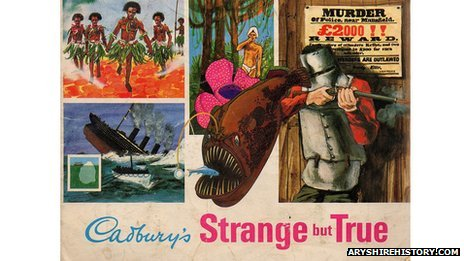 Cadbury's Strange but True chocolate bars