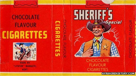 Sheriff's special chocolate cigarettes