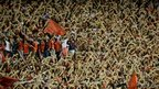 Argentina's Independiente fans cheer