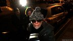 Gary Glitter arrives back at his apartment after being arrested by London