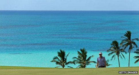 Bermuda golf course view