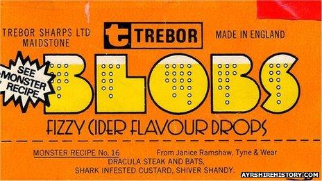 Trebor fizzy cider Blobs