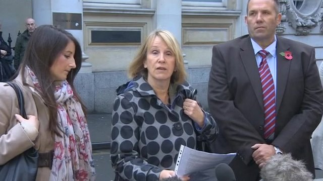 Rev John Suddards' sister speaking outside court