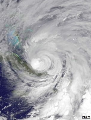 Satellite image of Hurricane Sandy (Image: Nasa)