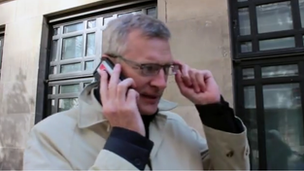 Jeremy Vine in front of Broadcasting House