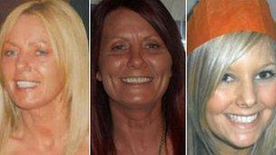 Susan McGoldrick, Alison Turnbull and Tanya Turnbull