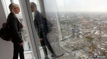 The view from the Shard's 69th floor