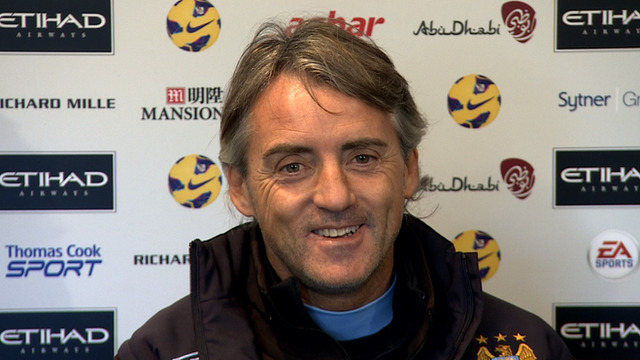 Manchester City manager, Roberto Mancini