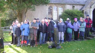 Walkers at St Cuthbert&#039;s in Over Kellet