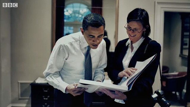 Barack Obama and Callie Shell