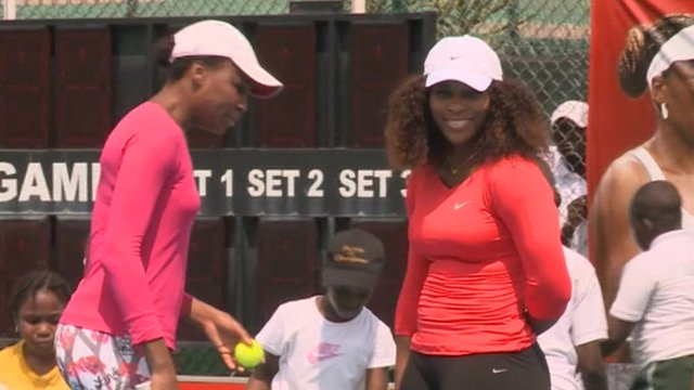 Venus and Serena Williams in Lagos, Nigeria