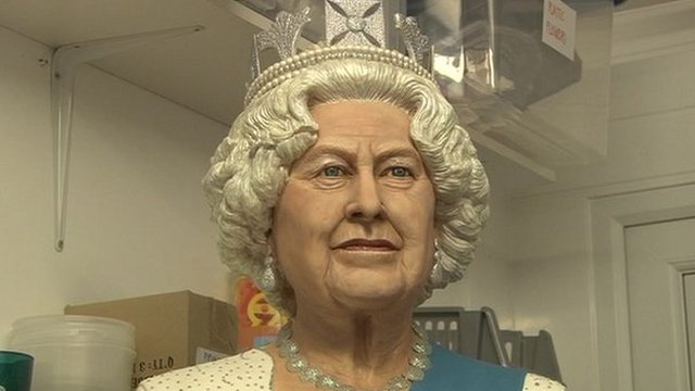 Lifesize model of Queen made with sugar