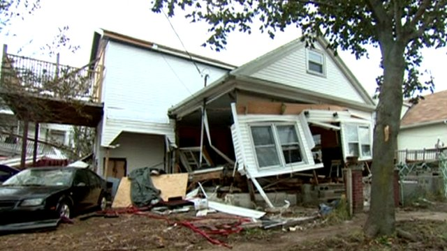 Damaged property on Staten Island