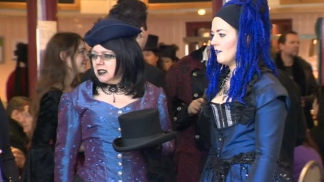 Goth visitors in Whitby