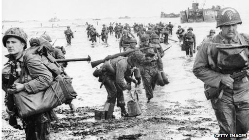 US soldiers on D-Day