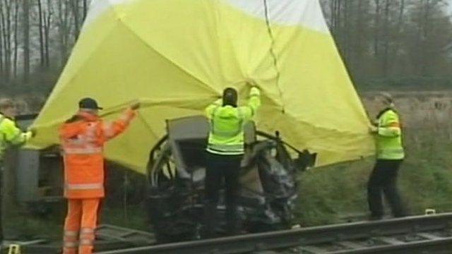 The car parked on the tracks that caused the 2004 crash in which seven people died