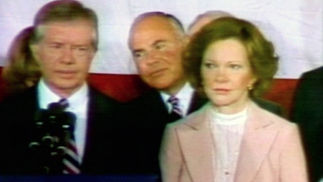 Jimmy Carter during concession speech