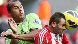Gabriel Agbonlahor (left) and Phil Bardsley