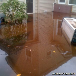House surrounded by water, Staten Island. Photo: Daphany Sanchez