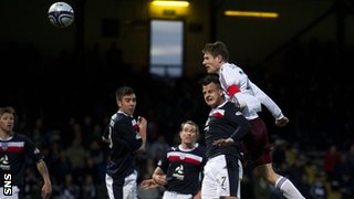 Dundee and Hearts players