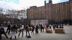Mayoral staff deliver food to the Red Hook public housing project, still without power or water, five days after storm Sandy