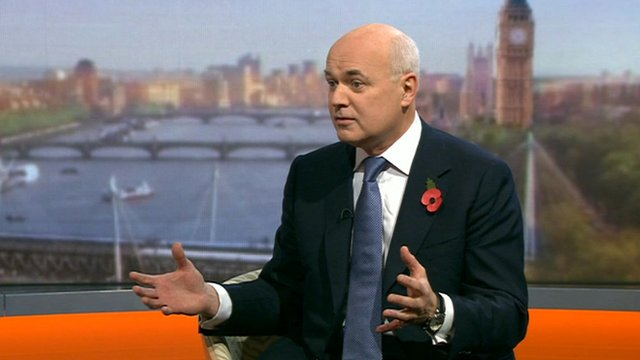 Work and Pensions Secretary Iain Duncan-Smith