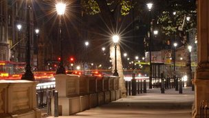 Street lighting in Westminster