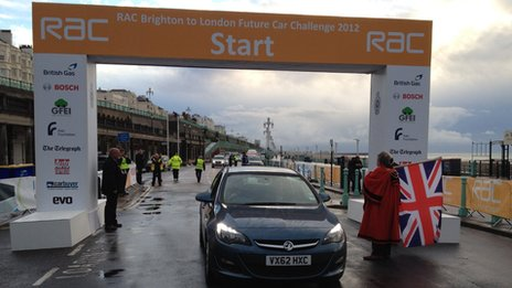 Competitors leave Brighton seafront