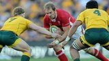 Alun Wyn Jones takes on the Australia defence