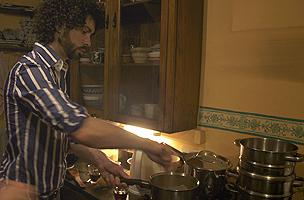 Duncan Boak cooking
