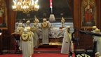 Ceremony at St Mark's Cathedral in Cairo. Photo: 4 November 2012