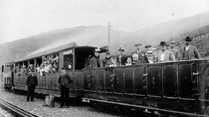 Early photograph of Llanberis siding