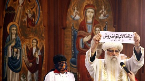 Bishop Tawadros&#039; name is held up - 4/11/12