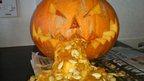Carved pumpkin. Photo: Robert Hudson