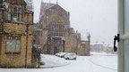 Snowfall in Sherborne, Dorset, 4 November 20012. Photo: Liz Burt