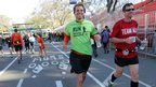 Lance Svendsen (left) started a group encouraging NYC marathon runners to participate in Central Park on 4/11/12