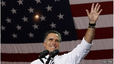 Mitt Romney on the campaign trail in Ohio, 4 November 2012