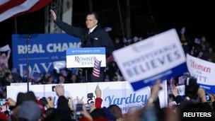Mitt Romney in Morrisville, Pennsylvania (4 Nov 2012)