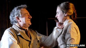 Ken Stott and Laura Carmichael in Uncle Vanya