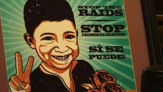 Latino campaign poster in the US