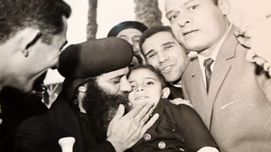 Ayman Mounir with Pope Shenouda just after he was chosen