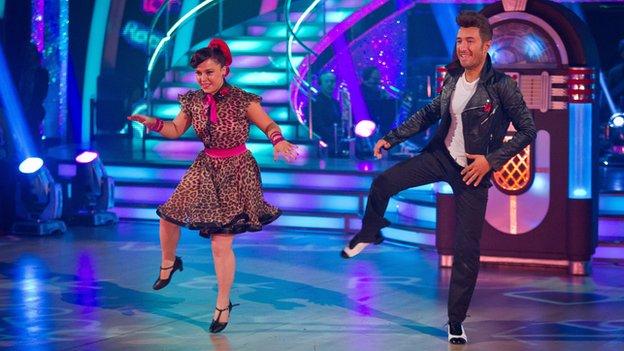 Dani Harmer dancing