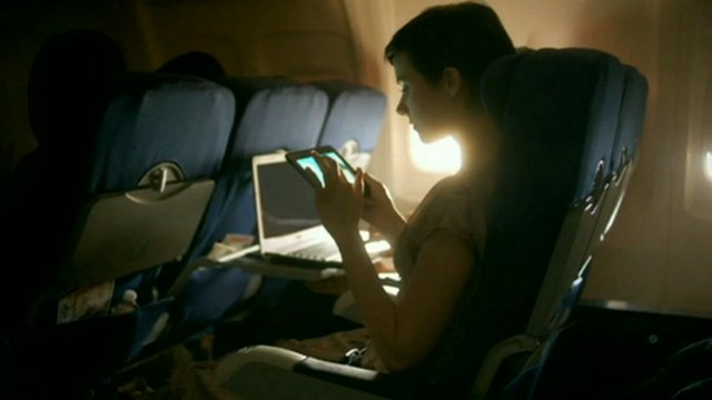 Using gadgets on a plane